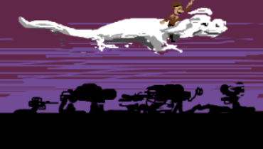 the flying dog from never ending story