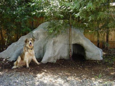 stone dog house
