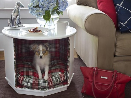 table dog house