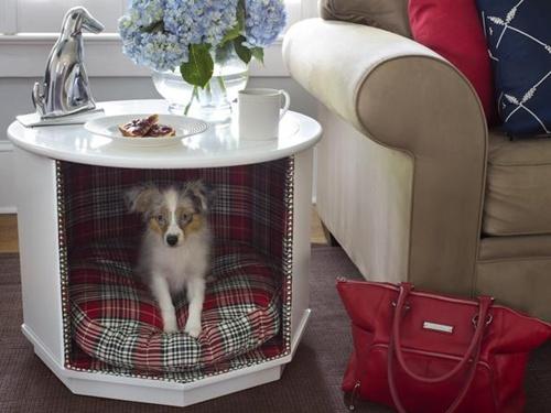 table dog house